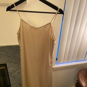 Champagne color silk dress ** really comfortable